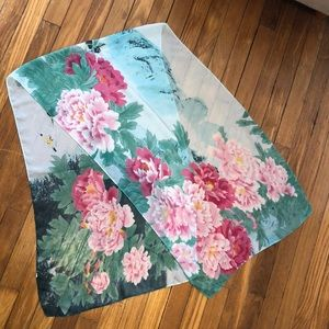 Accessories - Floral Chiffon Scarf